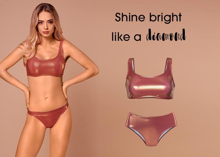 Metallic-Optic Bikini