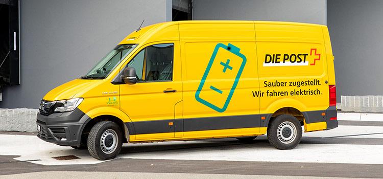 Schweizer Post CO2-kompensierte Lieferung